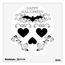Happy Halloween Elegant Cute Gothic Sugar Skull Wall Decal Zazzle Com