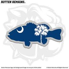 North Carolina Nc State Flag Red Fish Sticker Cup Laptop Car Window Bumper Decal