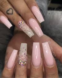 gems acrylic nails blasiand and