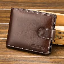 mens wallets real leather purse