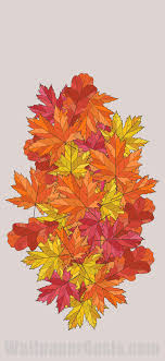 colorful fall leaves iphone wallpaper