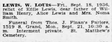 Louis W. Lewis Obituary - Newspapers.com