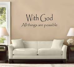 Amazon Com 54 With God All Things Are Possible Wall Decal Sticker Christian Quote Home Decoration Decor Home Kitchen