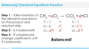 coefficient in a chemical equation