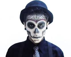 day of dead makeup male with images