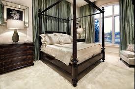 royal bedroom alongside four poster bed