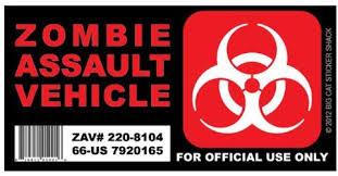 Amazon Com Zombie Assault Vehicle Version 2 Bumper Sticker Automotive