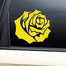 Amazon Com Yellow Rose Vinyl Decal Laptop Car Truck Bumper Window Sticker Automotive