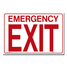 Lynch Sign 14 In X 10 In Decal Red On White Sticker Emergency Exit Only Es 12 Dc The Home Depot