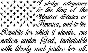 Large 10 I Pledge Allegiance To The Flag Decal Etsy