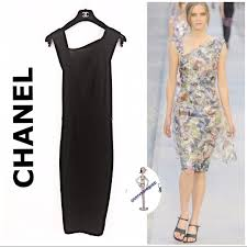 CHANEL Dresses | Semi Sheer Knit Dress | Poshmark