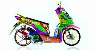 gambar motor beat kartun rosaemente
