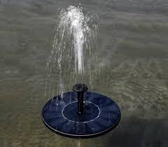 bird bath fountain solar panel water