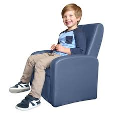 Stash Comfy Folding Kids Toddler Plush Sofa Lounge Chair With Storage Chest Ottoman Cute Mini Upholstered Armchair For Little Boy Girl Children Play Room Toy Modern Home Sitting Baby Furniture Blue Walmart Com
