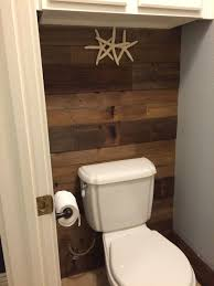 Reclaimed Wood Bathroom Wall Used Old Boards From Our Fence We Replaced Wood Wall Bathroom Wood Bathroom Barn Wood Bathroom