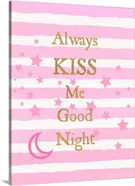 kiss me good night wall art canvas