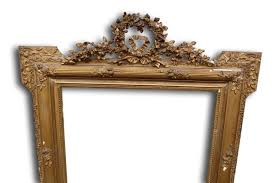 antique french gilt overmantle mirror