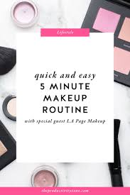 quick and easy 5 minute makeup routine