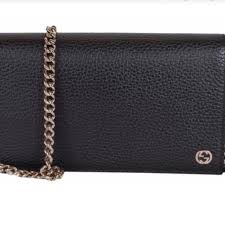 gucci bags leather wallet on chain