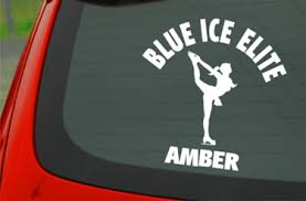 Ice Skating Car Window Decal