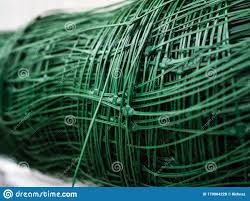 The Plastic Grille Is Green Rolled Mesh For Further Use In The Construction Of The Fence Stock Photo Image Of Futuristic Hexagon 170904228