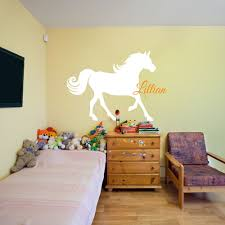Horse Nursery Room Wall Stickers Custom Name Vinyl Wall Decals Children Room Wall Decor Wall Art Personalized Wallpaper 607c Name Wall Stickers Vinyl Wall Decalswall Sticker Aliexpress