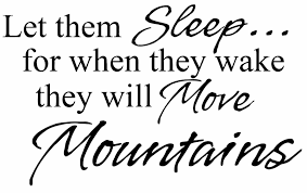 Juststickit Let Them Sleep Move Mountains Wall Art Decal Sticker Picture Decorate