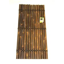 Lattice Makers 1800 X 900mm Black Bamboo Half Raft Screen Panel