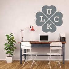 Large Four Leaf Clover Silhouette Vinyl Decor Wall Decal Customvinyldecor Com