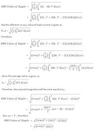 formula of ripple factor