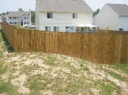 4 Dog Eared Stockade Fences