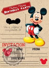Resultado De Imagen De Invitaciones De La Casa De Mickey Mouse