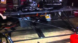 homemade motorcycle lift table winch
