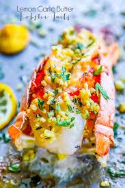 Lemon Garlic Butter Broiled Lobster Tails