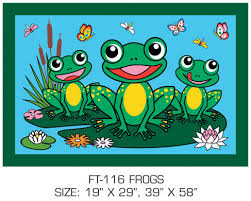 Zoomie Kids Corina Frogs Kids Rug Wayfair