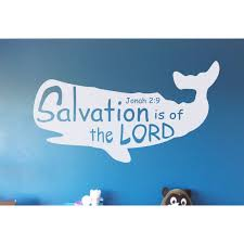 Salvation Is Of The Lord Bible Verse Wall Decal Sticker Jonah 2 9 Ozdeco T S Polonaiz