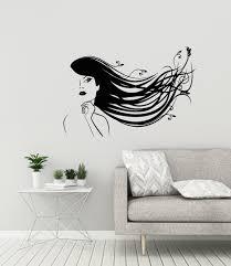 Beauty Salon Vinyl Wall Decal Woman Spa Hair Hairstyling Decor Etsy Vinyl Wall Decals Vinyl Wall Wall Decals