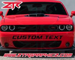 Dodge Challenger Custom Text Front Bumper Vinyl Decal Ztr Graphicz