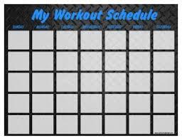 print a workout calendar