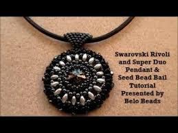 swarovski rivoli and super duo pendant