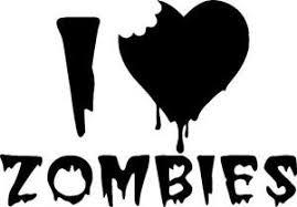 Zombie I Love Zombies Vinyl Decal Sticker Ebay