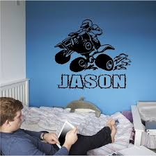 Personalized 4 Wheeler Wall Decal Quad Wall Sticker Custom Etsy