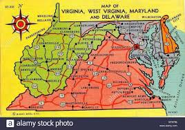 Map of Virginia, West Virginia, Maryland, and Delaware (NBY 2416 Stock  Photo - Alamy