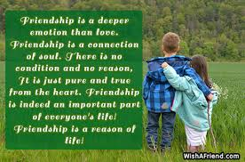 friendship is a deeper emotion than best friend quote