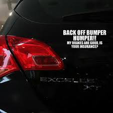 Back Off Bumper Humper Tailgate Car Truck Window Vinyl Decal Sticker White Top Archives Midweek Com
