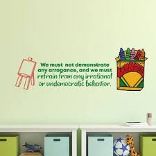 Zoomie Kids Bad Behavior School Classroom Quote Cartoon Quotes Wall Sticker Art Design Decal For Girls Boys Kids Room Home Decor Wall Art Vinyl 15x30 Inch Wayfair