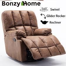 oversize swivel glider recliner chair