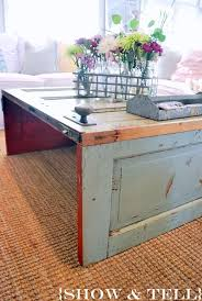 coffee table old door tables home