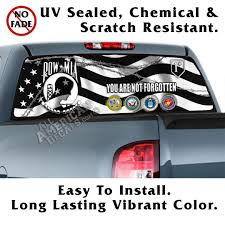 Pow Mia Wavy Tactical Flag Back Window Graphic 2