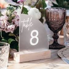 frosted acrylic wedding sail table
